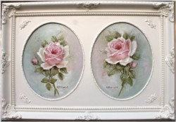 "Original Painting ""Pair of Pink Roses"" - Postage is included Australia Wide"