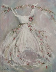 Original Painting on Canvas - Rosy Tutu - Sold Out