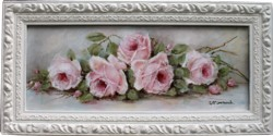 Original Painting - Laying Late  Roses - Postage is included Australia Wide
