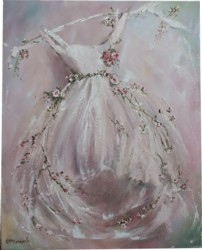 Original Painting on Canvas - Pink Themed Tutu - Postage is included Australia Wide