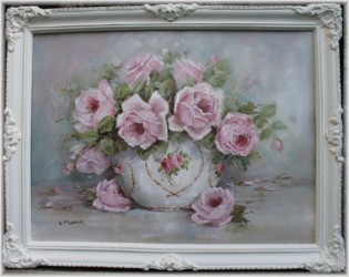 Original Painting - Roses in a Bowl - sold out