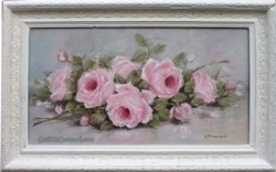 Original Painting - Laying Roses -Postage is included Australia Wide