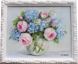 Original Painting - A Garden Bunch - Postage is included in the price Australia wide