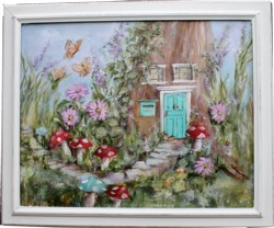 Original Painting - The Fairy Garden - Postage is included in the price Australia wide