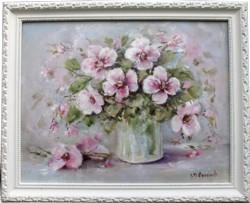 Original Painting - Pansies in a Jar - Postage is included Australia Wide