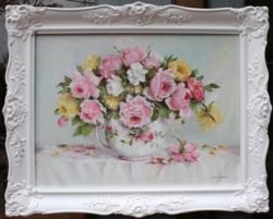Original Painting - January Roses - 75 x 60cm