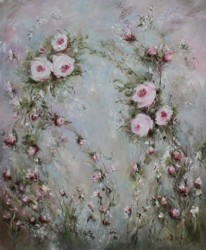 Original Painting on Canvas - Floating Flowers - Postage is included Australia Wide