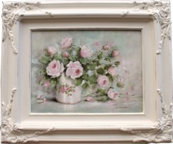 Original Painting - Pretty Pink Roses - Postage is included Australia Wide