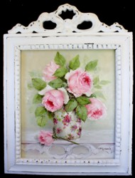Original Painting - Pretty Roses - Postage included Australia wide