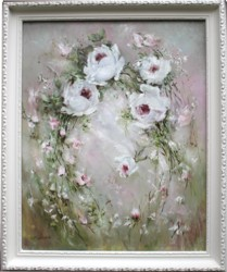 Original Painting - Drifting  Roses - Postage is included Australia Wide
