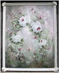 Original Painting - Roses in the Breeze - Postage is included Australia Wide