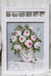 Original Painting - China Vase of Roses - postage included Australia wide