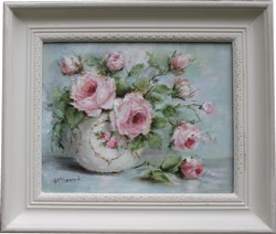 Original Painting - Roses in a Bowl - Postage is included Australia Wide