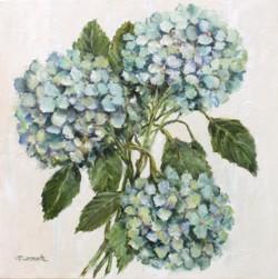 Original Painting on Panel - Hydrangeas - postage included Australia wide
