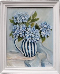 Original Painting - Last of the Hydrangeas - Postage is included in the price Australia wide
