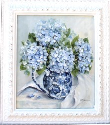 Original Painting - Autumn Hydrangeas - Postage is included in the price Australia wide