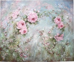 Original Painting on Canvas - Drifting Roses  Sold