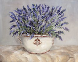 Original Painting on Panel - Lavender in French Pot - Postage is included Australia Wide