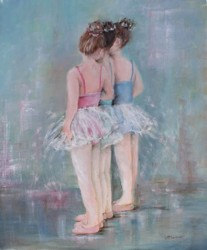 Original Painting on Canvas - Dancing Trio - Postage is included Australia Wide