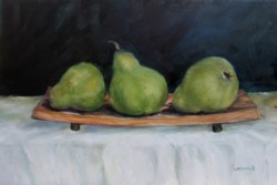Original Painting on Panel - 3 Pears - Postage is included Australia Wide