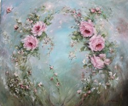Original Painting on Canvas - Roses in the Wind - Postage is included Australia Wide