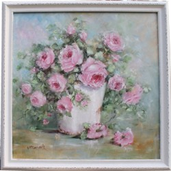 Original Painting - Container of Roses - Postage is included Australia Wide