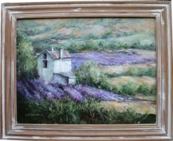Original Painting - Lavender Fields - Postage is included Australia Wide