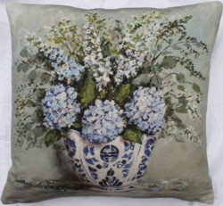 Cushion Cover - Hydrangea Arrangement - SOLD OUT