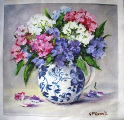 Fabric print - Stocks in Blue & White - Postage is included Australia Wide