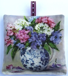 Lavender Sachet - In Blue & White - Postage is included Australia wide