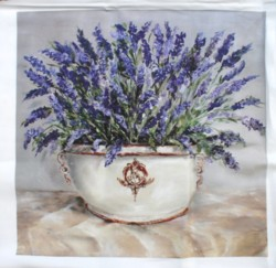 Fabric print - Lavender in French Pot  - Postage is included Australia Wide