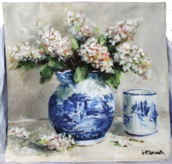Cushion cover - Blue & White still life - Free Postage Australia Wide