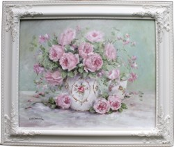 Original Painting - Early Spring Roses - Postage is included Australia Wide