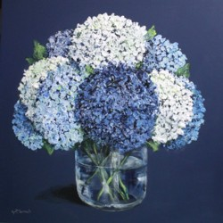 Original Painting on Panel - Last of the Hydrangeas - Postage included Australia wide
