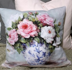 Cushion cover - Scented Roses - Free Postage Australia Wide