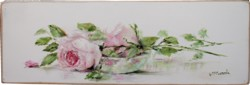 Original Painting on Panel - My Laying Rose Study - Postage is included Australia Wide