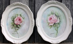 Pair of Original Paintings - My Spring Roses - Postage is included Australia Wide