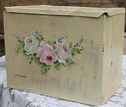 Vintage Tin Hand Painted Flower Design - Postage is included Australia Wide
