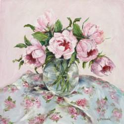 Original Painting on Canvas - On Florals - 35 x 35cm