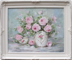 Original Painting - Two Bowls of Roses - Postage is included Australia Wide