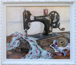 Original Painting - Singer Sewing - postage included in the price