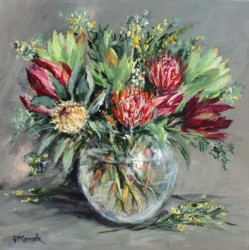 Original Painting on Canvas - Native Flower Arrangement - 35 x 35cm