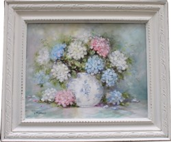 Original Painting - Early Hydrangeas - Postage is included Australia Wide