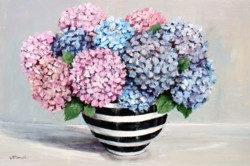 Original Painting on Panel - Hydrangeas in Black & White - sold