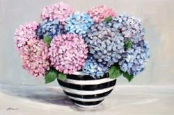 Original Painting on Panel - Hydrangeas in Black & White - sold