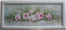 Original Painting - Lovely laying Roses -Postage is included Australia Wide