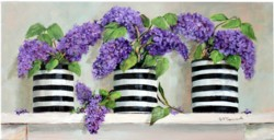 Original Painting on Panel - Lovely Lilacs all in a Row