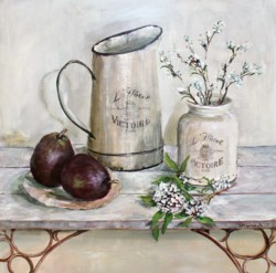 Original Painting on Panel - The Arrangement with Red Pears - Postage included Australia wide