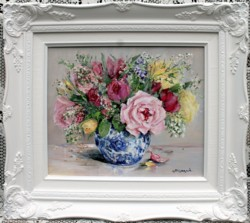Original Painting - First Spring Bunch - Postage is included in the price Australia wide