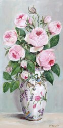 Original Painting on Panel - Rose Arrangement from my Garden - Postage is included Australia Wide